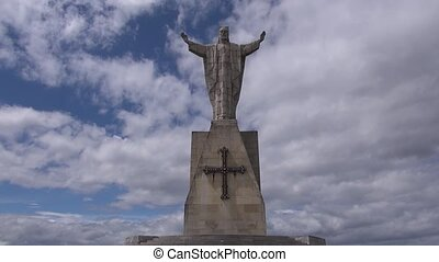 Naranco christ - public monument at Naranco mountain Oviedo...
