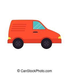 narancs, autó, jármű