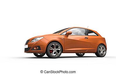 narancs, autó, modern