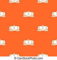 narancs, autó, vektor, harckocsi, motívum