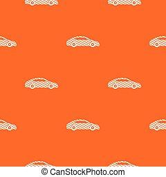 narancs, autó, vektor, motívum