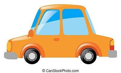 narancs, autó, white háttér