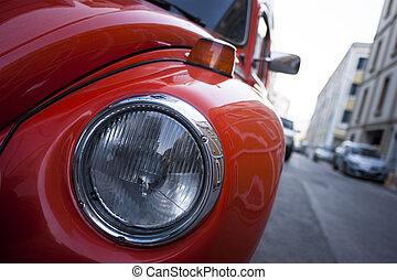 narancs, beetle., volkswagen