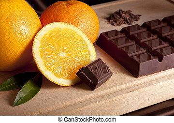 narancs, csokoládé