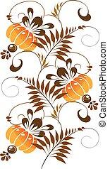 narancs, díszítés