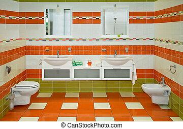 narancs, fürdőszoba