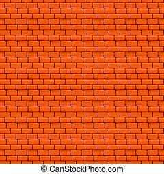 narancs, fal, tégla, seamless, struktúra