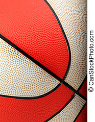narancs, fehér, kosárlabda, closeup