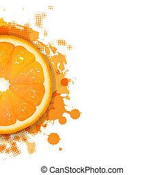 narancs, festékfoltok