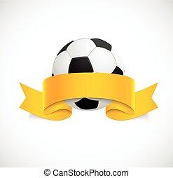 narancs, futball, szalag, labda