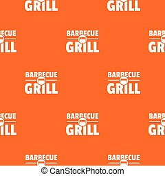 narancs, grillsütő, vektor, grill, motívum