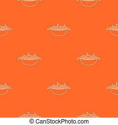 narancs, grillsütő, vektor, motívum