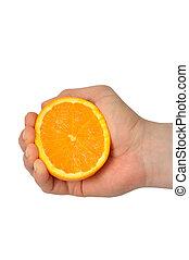 narancs, kéz