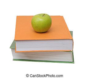 narancs, könyv, zöld