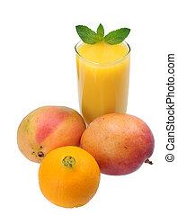 narancs, mangó