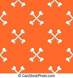 narancs, motívum, vektor, csont
