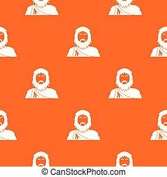 narancs, motívum, vektor, neanderthale
