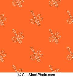 narancs, motívum, vektor, sofőr, csavar