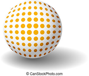 narancs, pöttyös, labda