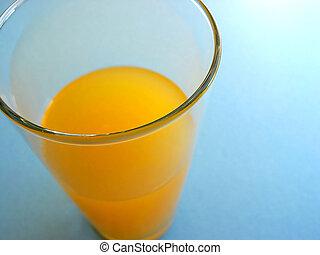 narancs, pohár, 2, lé