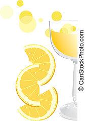 narancs, pohár, juice., töredék