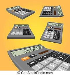 narancs, számológép, háttér