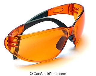 narancs, védőszemüveg