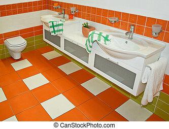 narancs, vízcsapok