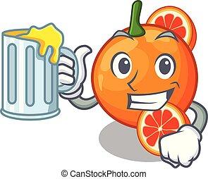 narancslé, alakít, vér, karikatúra
