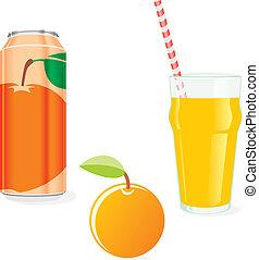 narancslé, gyümölcs, elszigetelt