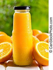 narancslé, palack