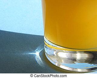 narancslé, pohár
