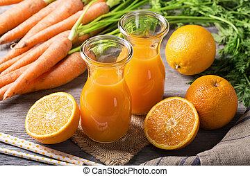 narancslé, sárgarépa