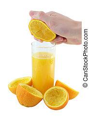 narancslé, slice., szorítás
