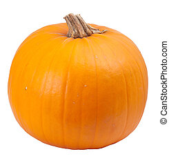 naranja, aislado, calabaza