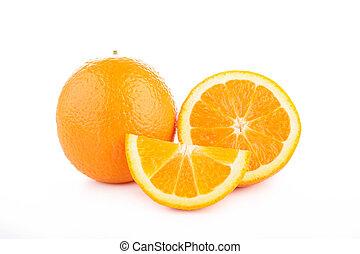 naranja, aislado