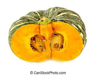 naranja, aislado, kent, calabaza