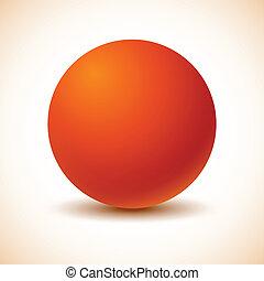 naranja, ball.