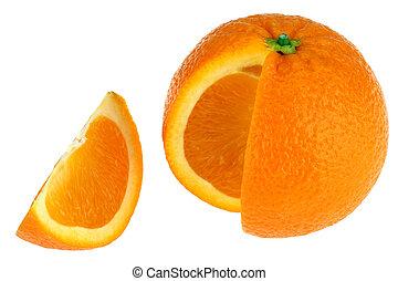 naranja, blanco, espalda