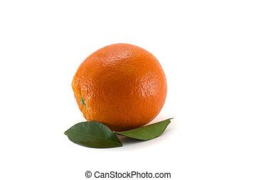 naranja, blanco, leafs, maduro