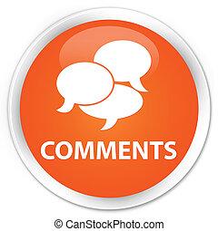 naranja, botón, comments