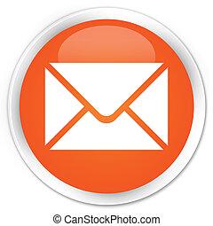 naranja, botón, email