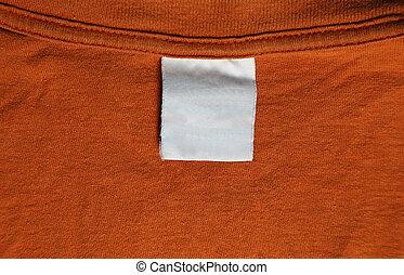 naranja, Camiseta, etiqueta
