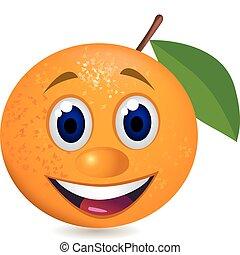 naranja, caricatura