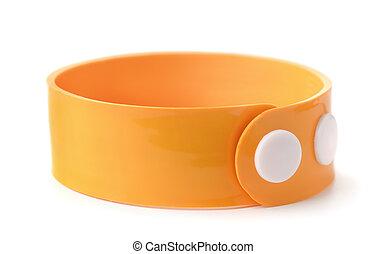 naranja, caucho, wristband