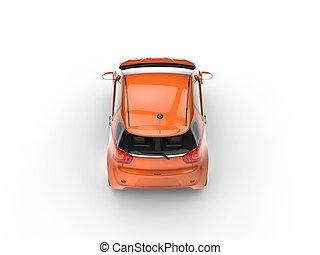 naranja, coche pequeño