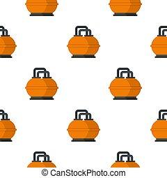 naranja, combustible, tanque almacenaje, patrón, seamless