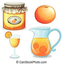 naranja, conjunto
