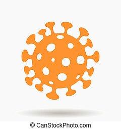 naranja, coronavirus, simplistic, icono