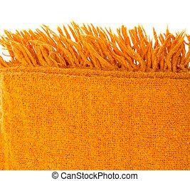 naranja, encima, lana, blanco, tartán